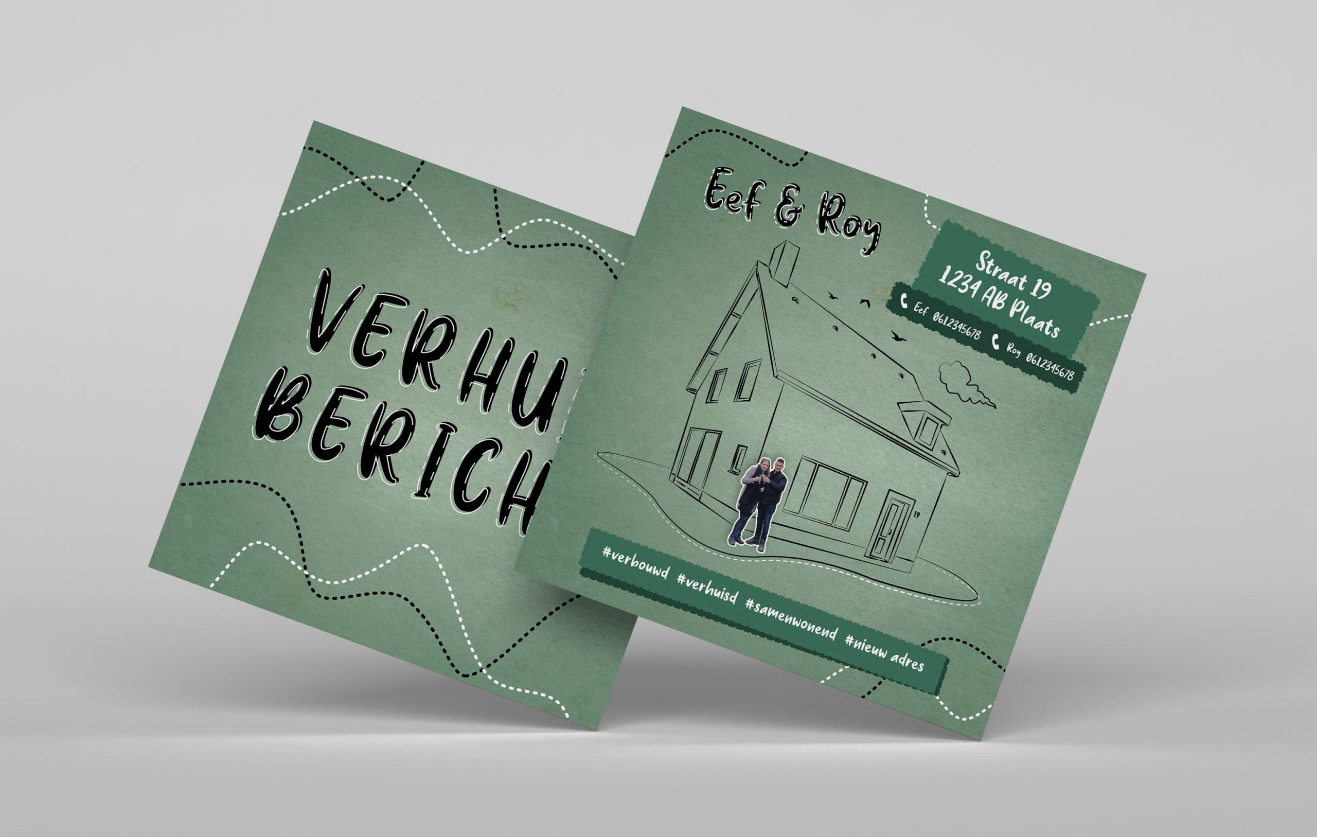 Verhuiskaartje ontwerpen