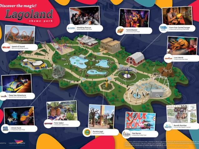 Park plattegrond ontwerp