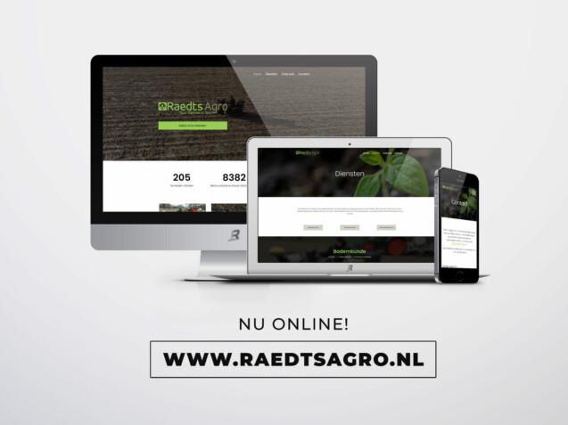 Nette website voor Raedts Agro