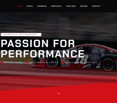 Vernieuwende website voor Hendriks Motorsport